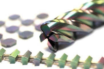 PVD Hartstoff beschichtete Werkzeuge für die Zerspanung, Wendeschneidplatten und Schaftfräser.